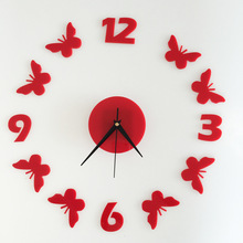 Buy Quartz Clocks Fashion Watches 3D Acrylic Butterfly Digital Wall Clock Rushed Mirror Wall Sticker Living Room DIY Home Decor CA for $7.89 in AliExpress store