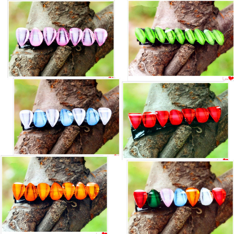 18pcs=9pairs/lot meet resin girls hair accessories colorful baby hair clip hairpins kid barrette for hair Free Shipping(China (Mainland))