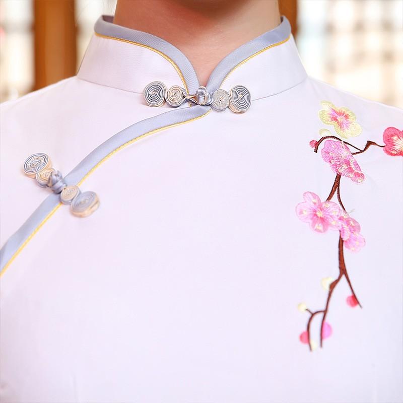 มาใหม่แฟชั่นแผนจีนชุดผู้หญิงผ้าไหมCheongsam QipaoมินิVestidoเดเฟสต้าขนาดSml XL XXL Z20160322 ถูก