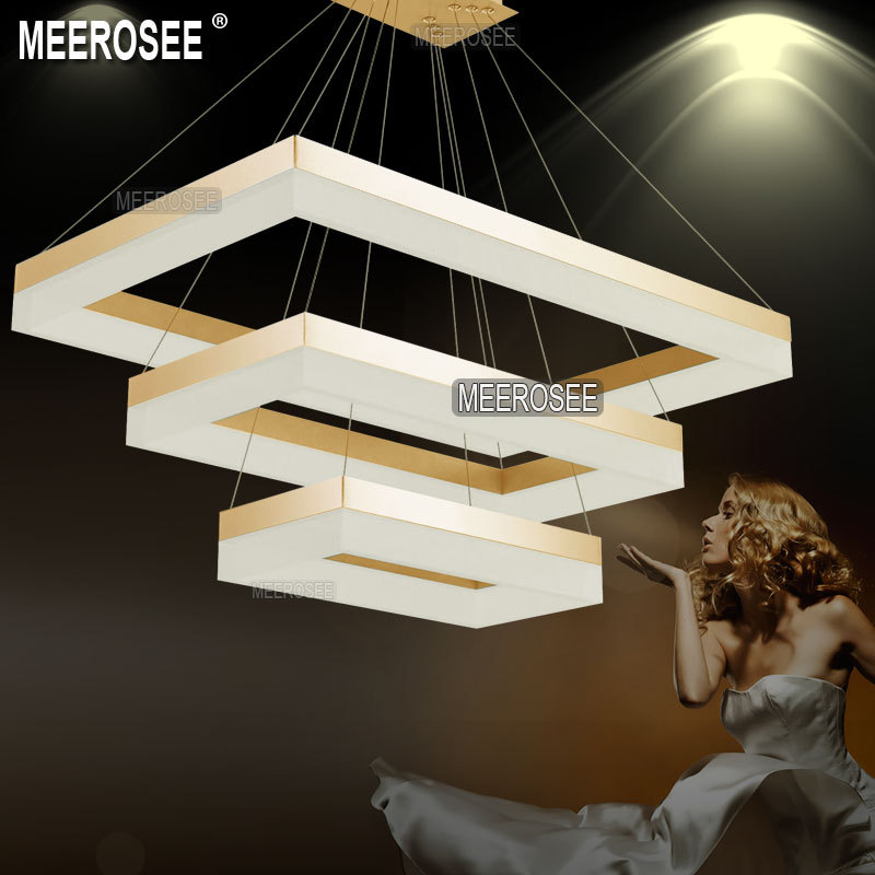 Latest Design LED Chandelier Light LED Rectangular Suspension Hanging ...