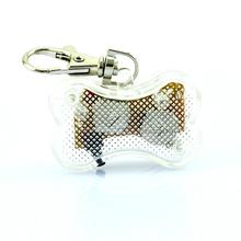 LED Nylon Pet Dog Cat Collar Dog Flashing Clip On Collar Led Light Charm Id Tag Flash Or Glow Modes(China (Mainland))