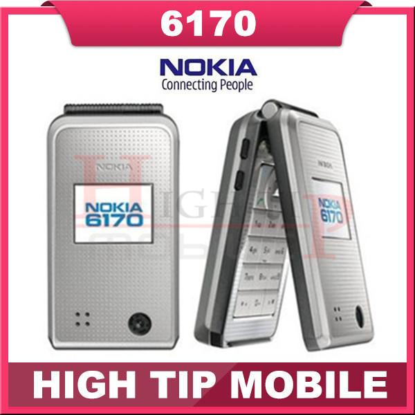 Nokia 6170 Original unlocked mobile phone Flip phone Double screen multilingual Free Shipping Refurbished(China (Mainland))
