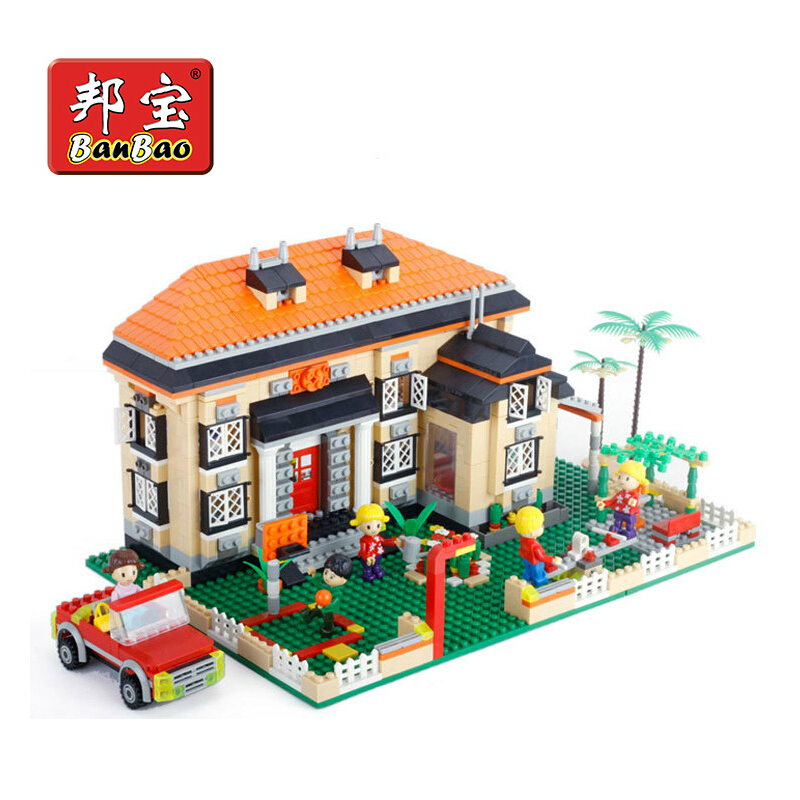 Without Original Box learning &amp; education Banbao Girl series 8369 Creative villa 1100pcs Building Block Set Girls Bricks Toy<br><br>Aliexpress