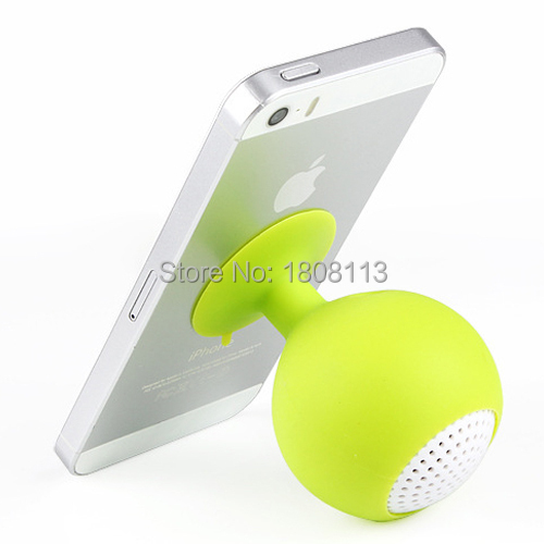Good Quality New Mini Ball Cup Sucker Speaker Silicone Sucker Hands Free Speakers For iphone 6 5 4 for Samsung S5 S4 S3(China (Mainland))