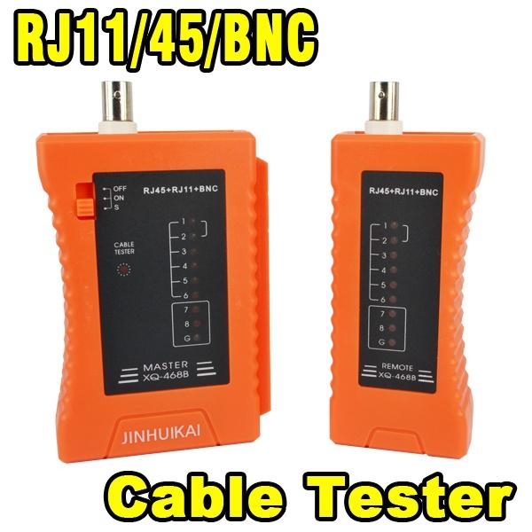 Portable LAN Network Cable Tester RJ45 RJ11 BNC CCTV Cat5 CAT6 TV television PC Hand Tool Pliers Base Gigabit Ethernet Tester(China (Mainland))