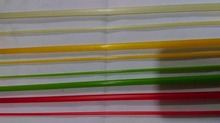 High quality free shipping(EMS shipment) translucent  fiberglass  2/3 wt fly rod blanks 6 1/2 FT 2PCS(China (Mainland))