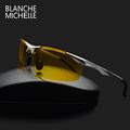 Super Light Aluminum Magnesium Frame Polarized Sunglasses Men Semi Rimless Rectangle UV400 Mens Sun Glasses Night
