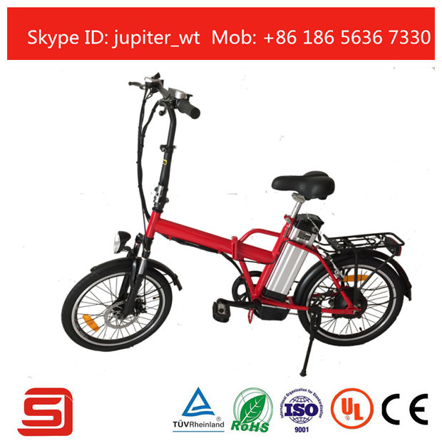 36V 10AH Li ion Battery Folding Electric Bicycle With LED Display JSE 12
