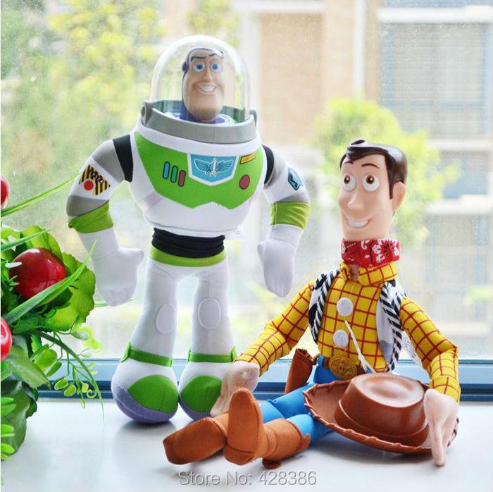 Toy Story 42cm Woody & 32cm Buzz Lightyear Doll Soft Stuffed Plush + PVC Classic Baby Toys Children Kids Gift 2pcs/Set - Truman Hua's store