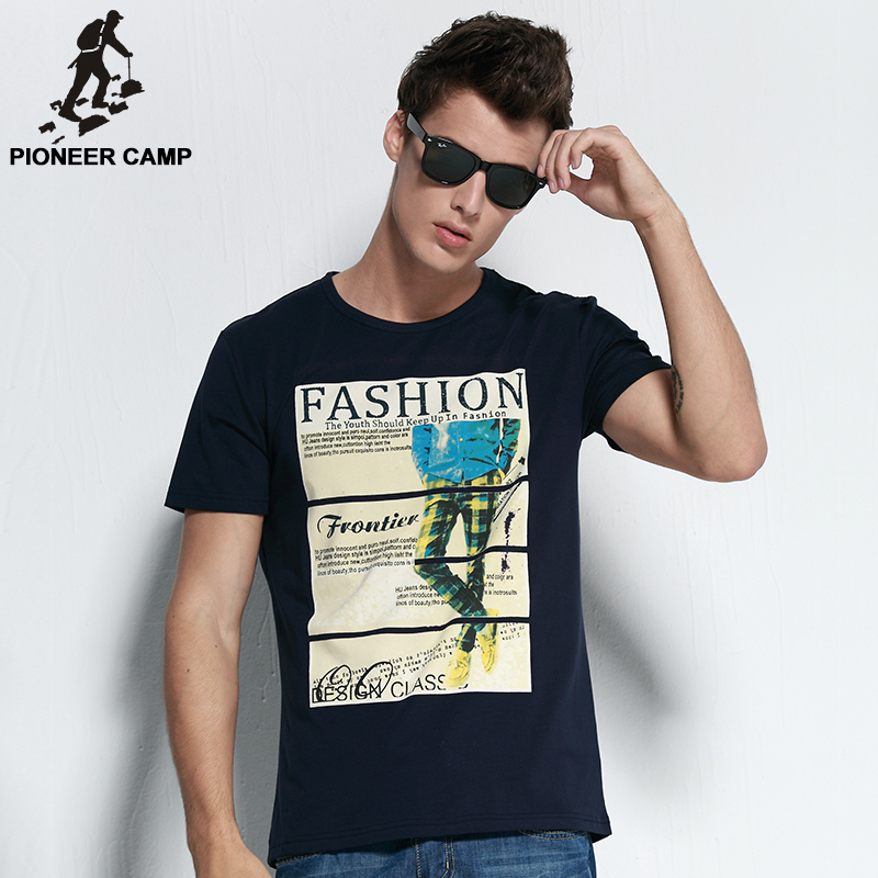 T Shirt Men Luxury Cotton Print Casual Tshirts Homme