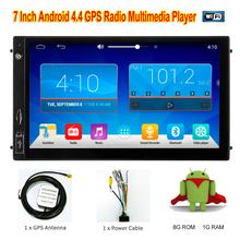 7 Inch Android 4.4 2Din New Nniversal Car Radio Bluetooth Car DVD Player GPS Navigation Dashboar Car PC Stereo video HD 1028x600
