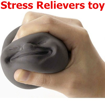 4 Emotions Novelty Face Ball Stress Relievers Toy Anti-stress Tool CAOMARU Vent Human Funny Toy JT058