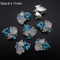 10pcs  Blue nail  Starss rhinestones Glitter  nail design 3d alloy nail art tools Jewelry AM359-3