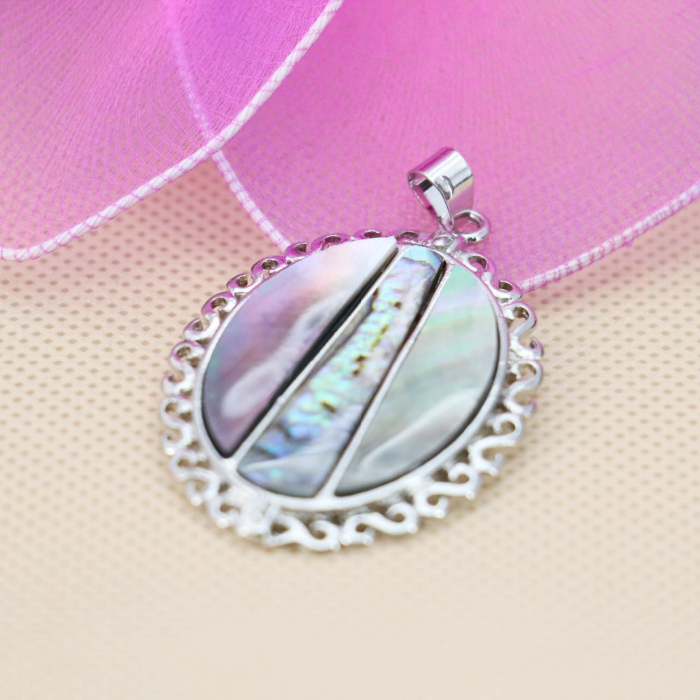 30*37mm Hot sale prevalent Natural Abalone seashells sea shells pendants decorative short necklace DIY jewelry making design(China (Mainland))