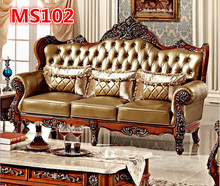 Antique sofa high back style wooden arm sofa MS102(China (Mainland))
