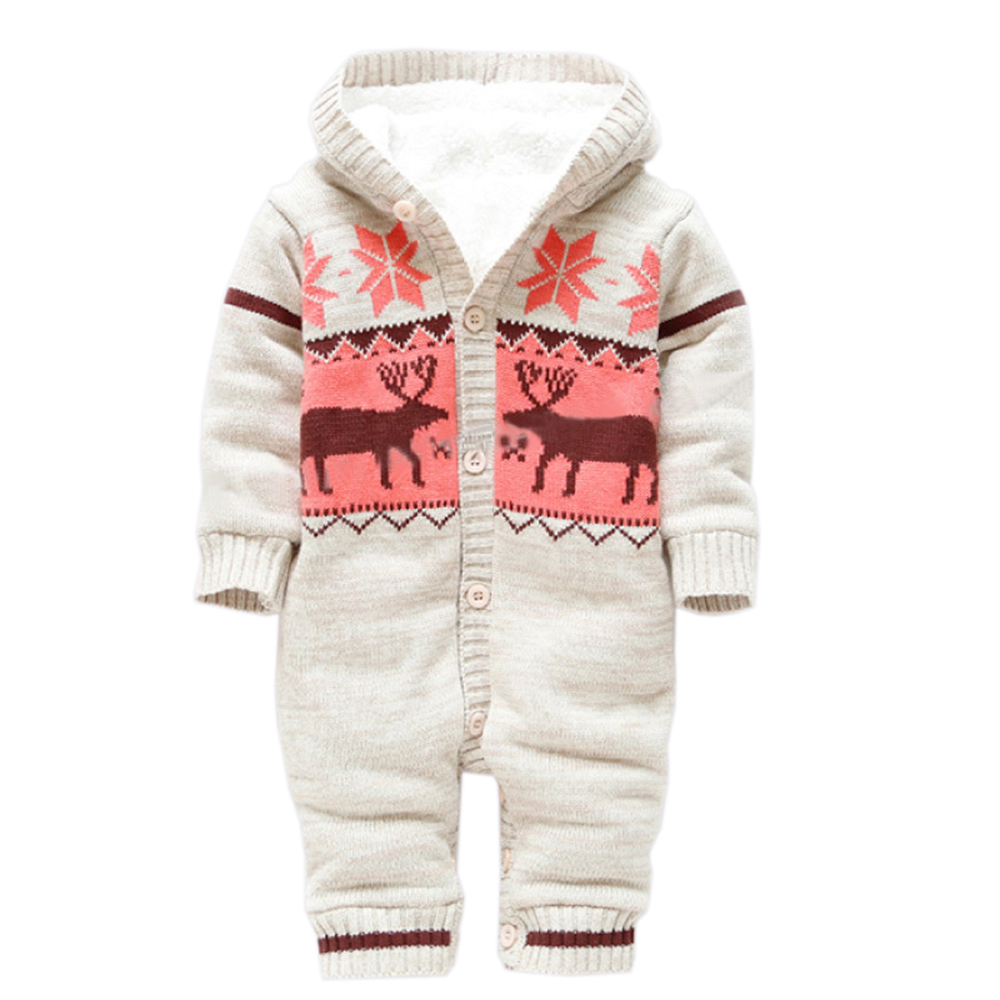 Baby Rompers Winter Thick Climbing Clothes Newborn Boys ...