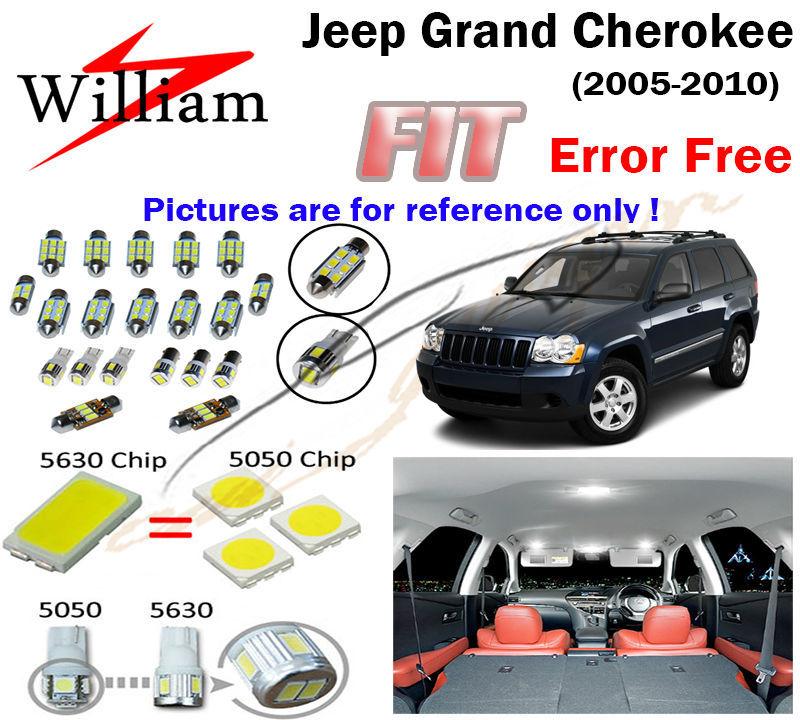 1HID White 5630 LED Interior Light Kit Jeep Grand Cherokee 2005-2010 (Plug&Play) - StarrySky store