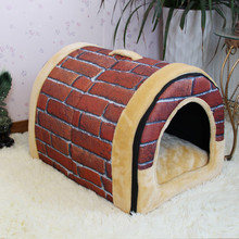 Lovely Soft Pet Products New Arrival Dog Bed Free Shipping Pet House Washable Pet Circular House Easy to Clean Durable(China (Mainland))