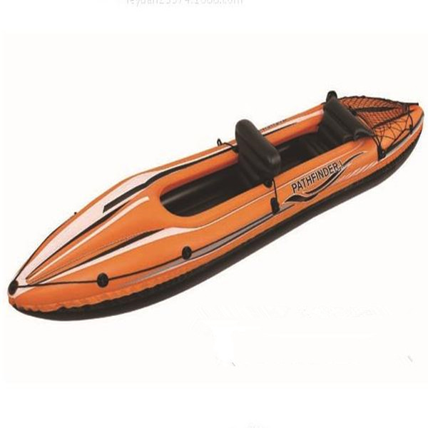 JILONG Outdoor water skiing PVC 2 persons double canoe kayak inflatable boat FREE SHIPPING(China (Mainland))