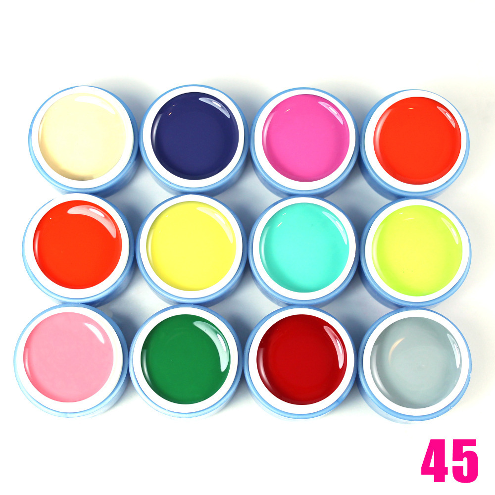 Wholesale 2015 New Fashion Color Gel Polish 165 Colors PURE Nail UV GEL Nail Art Decorations Design Extension DIY Builder Tips