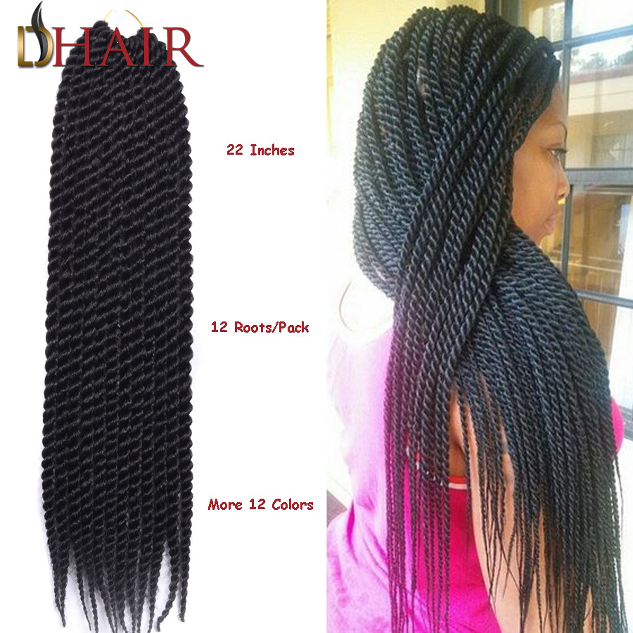 Hot Sell 22 Inch 12Roots/Pack Janet Collection Havana Mambo Twist Crochet Braids For Kids And Female 12 Colors Afro Twist Braid(China (Mainland))