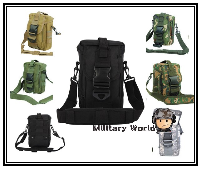 6 colors Airsoft Tactical Military 600D Nylon Molle Crisscross Sling Shoulder Bag Outdoor Sports Messenger Bag For Mens Black@(China (Mainland))