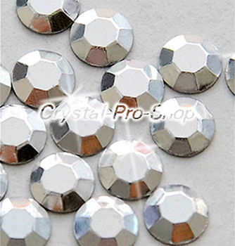 1440 pieces Silver 4mm 16ss ss16 Faceted Hotfix Rhinestuds Iron On Round Beads new Aluminum Metal Design Art (u4m-Silver-10 gr)