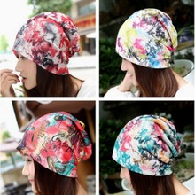 Women Winter Letter Ink Painting Graffiti Piles Cap female scarf multifunction Hat perfect GIFT accessory Hat