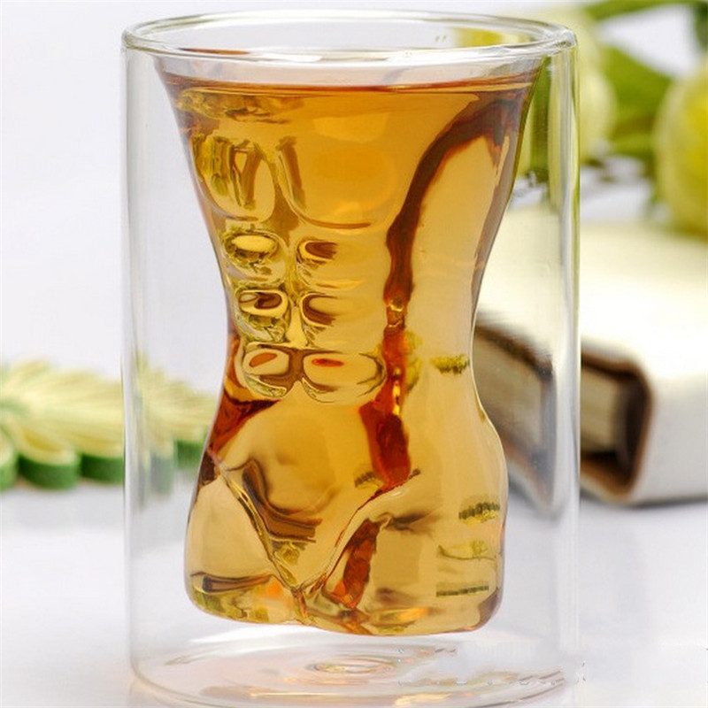 Double Layer Drinking Glasses