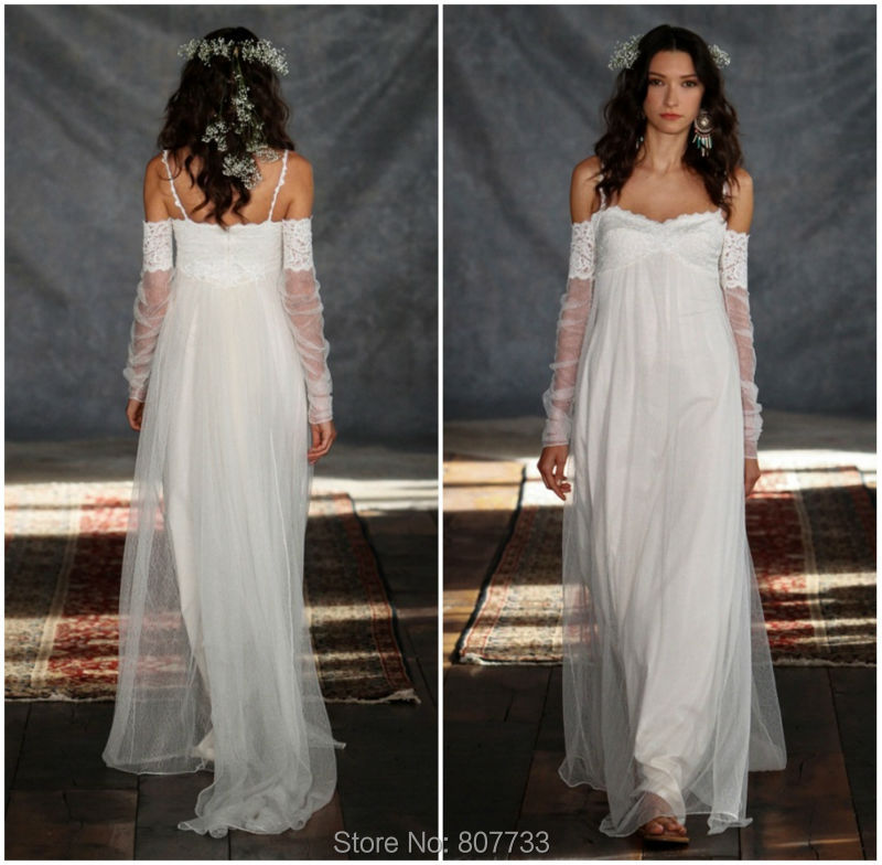 Buy jm bridals cw3529 beach style off the for Long sleeve casual wedding dresses