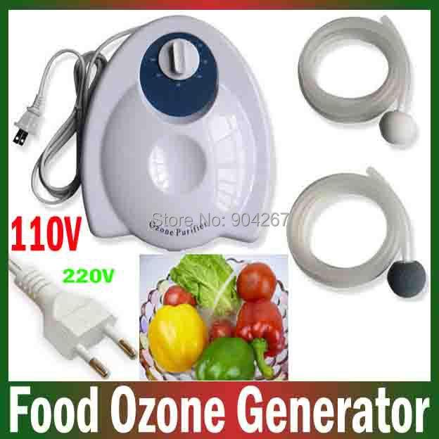 400mg/h 220V 110V Portable Fruit Vegetables Food Ozone Generator Water Air Sterilizer Purifier Ozonizer Purification Preparation(China (Mainland))