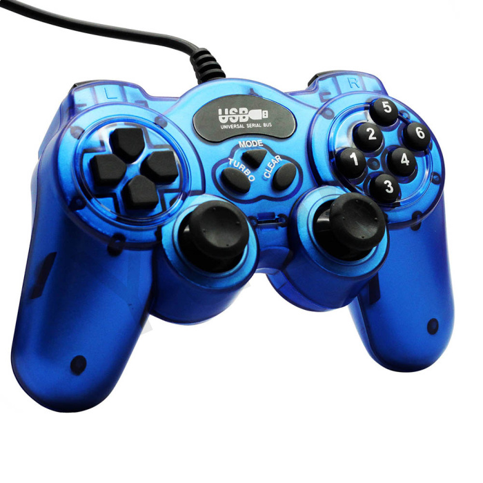 Welcoming 1PC FREE SHIPPING PC wired USB joypad game pad JOYSTICK controller with double shock support win 7 /XP #DW002(China (Mainland))