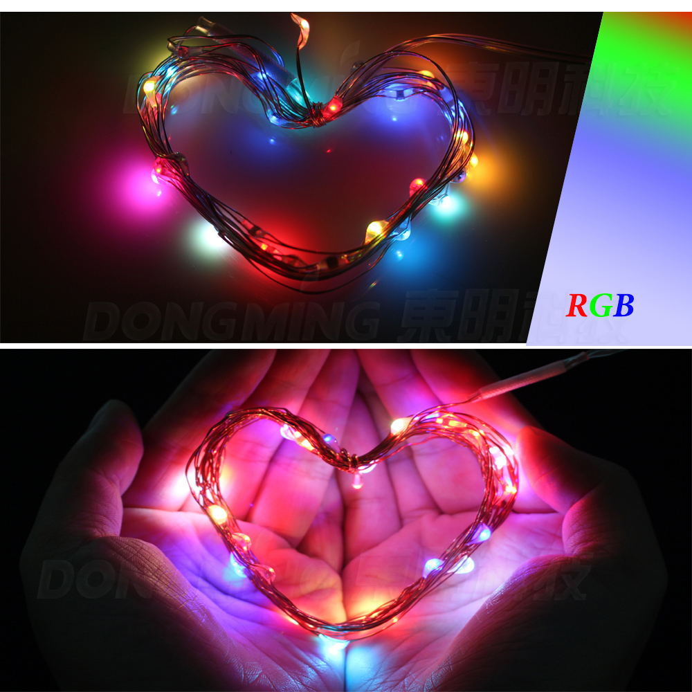 Purple Blue String Lights : 30m 30leds/m 3*AA battery led Christmas light Pink RGB LED String Light aluminum string Purple ...