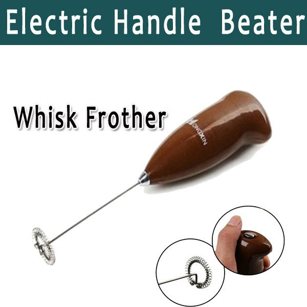 Protabel Electric Handle Coffee Milk Egg Beater Mixer Stirrer Sauce Beater Whisk Frother Cake Tool Freeshipping (0502258)