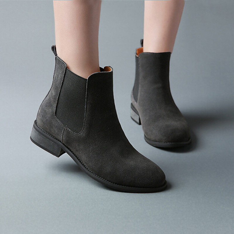 Innovative IHM71001021 Dune 2017 Shoes | Menu0026#39;s - Dune Leather Chiggy Chelsea Boots - Black Shoes Size5.56 ...