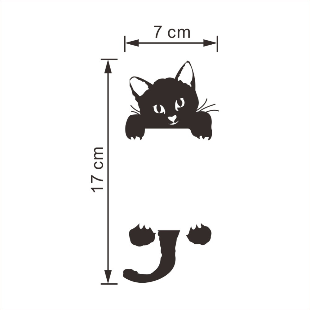 DIY Funny Cute Black Cat Switch Decal Wallpaper Wall Stickers Home Decoration Bedroom Kids Room Light Parlor Decor Sticker(China (Mainland))