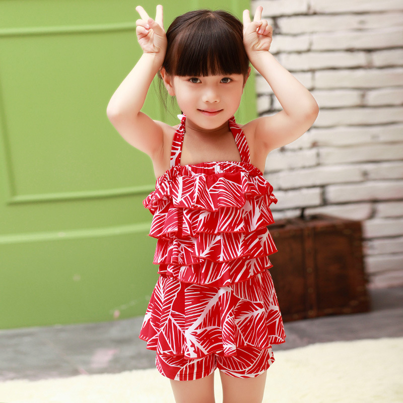 2-8 Y European Style Lovely little Girls Swimwear flowers 2016 New Summer Students toddler girl swimsuits Skirt Bathing Suits<br><br>Aliexpress