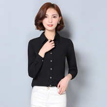 Buy 2017 New Women Casual Basic Spring Autumn Chiffon Blouse Solid Top Shirt Long sleeve elegant OL blusas buttons loose Plus Size for $11.92 in AliExpress store