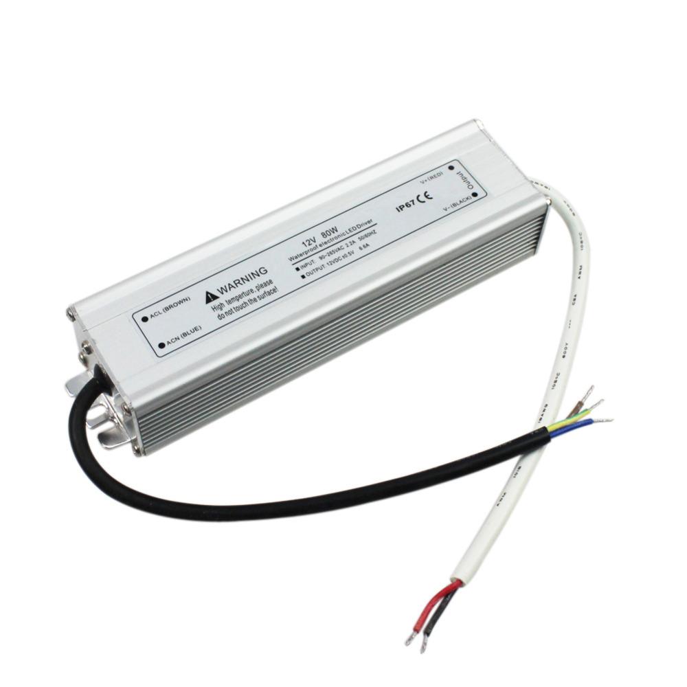 MIYOLE FREE SHIPPING LED Driver 12V 80W Power Supply IP67 Waterproof AC110~240V LED Electronic Transformer(China (Mainland))