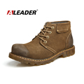 Aleader Genuine Leather Winter Boots Men New Winter Martin Boots For