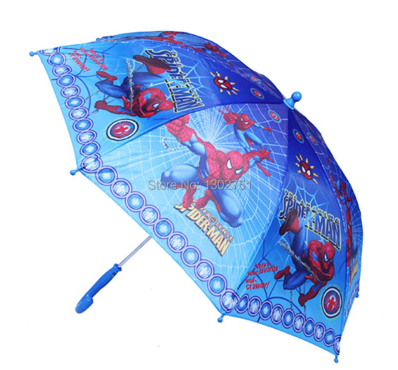 1pc kids Spiderman /Thomas Train long-handle umbrella/boys cartoon sun rain umbrella with whistle/children beach umbrella(China (Mainland))
