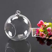 Hot Worldwide 8cm Hanging Glass Flowers Plant Vase Stand Holder Terrarium Container(China (Mainland))