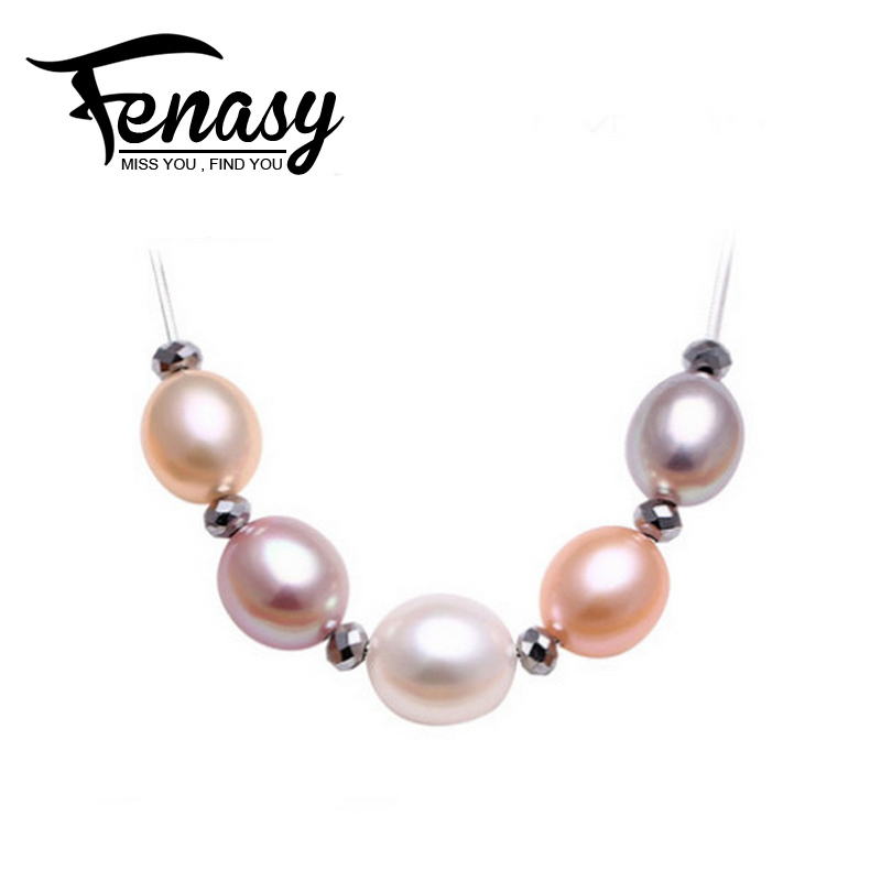 FENASY 100% natural Pearl Pendant,Drop Shape Natural Freshwater Pearl Silver Necklace Pendant Free Shipping<br><br>Aliexpress