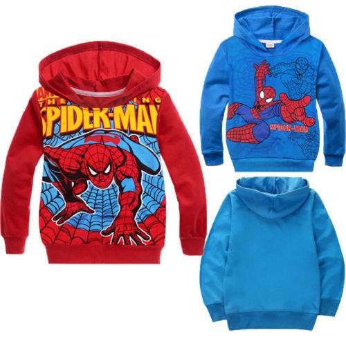 Мальчики-младенцы девочки дети дети-паук толстовка пуловер толстовки дети толстовка одежда