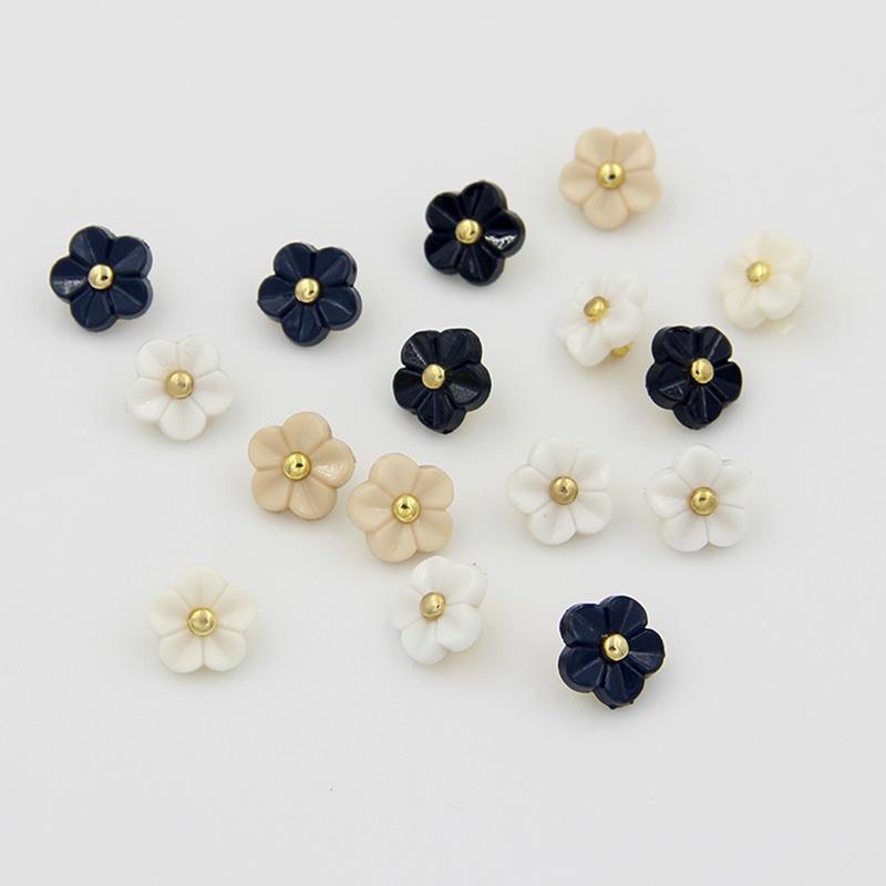 20pcs flowers design decorative buttons plastic button for for Decorative pins for crafts