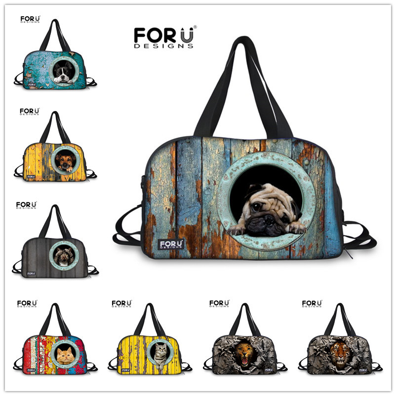 New Arrival Pet Dog Travel Bags Men's Travel Bags Boys Gym Sports Backpack Animals Printed Trolley Bag Men Travel Duffle HandBag(China (Mainland))