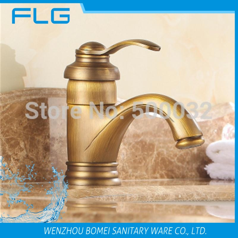 Antique brass finishing single lever water tap decorative outdoor faucet basin mixers for - Decorative bathroom faucets ...
