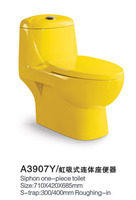 Multicolour one piece water pumping toilet red green black yellow toilet siphon toilet ceramic
