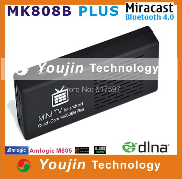 MK808B Plus Android 4.4 HDMI TV Stick Dongle Amlogic M805 Quad-Core 1GB 8GB Mini PC Bluetooth XBMC Miracast/DLNA - Shenzhen Youjin Technology Co.;Ltd store