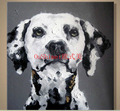 Home Decor Handmade Animals Abstract Pictures On Canvas Spotty Dog Wall Pictures For Living Room Decor